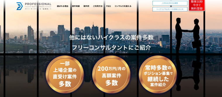 PROFESSIONAL NETWORKSのサイト画像